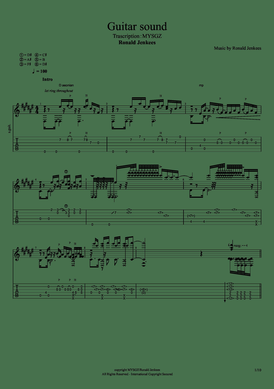 Guitar sound(指弹)吉他谱1