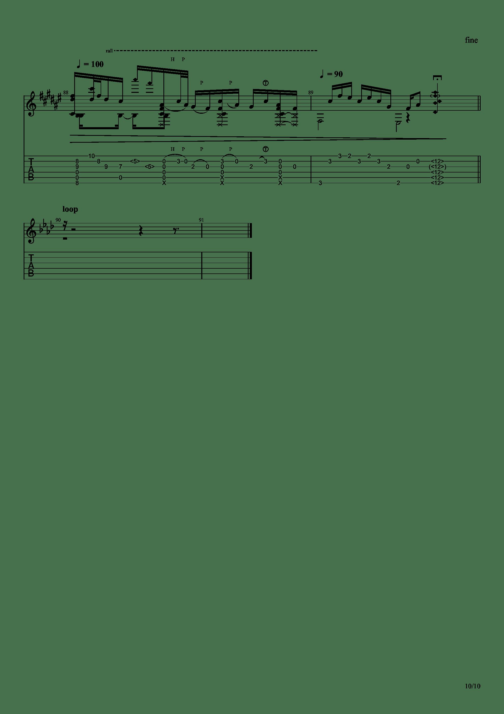 Guitar sound(指弹)吉他谱10