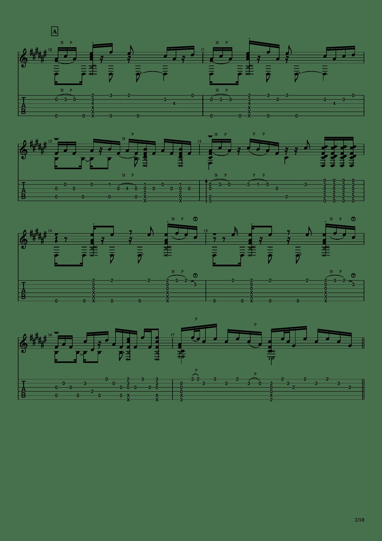 Guitar sound(指弹)吉他谱2