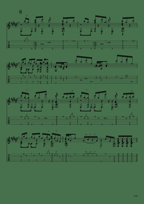 Guitar sound(指弹)吉他谱3