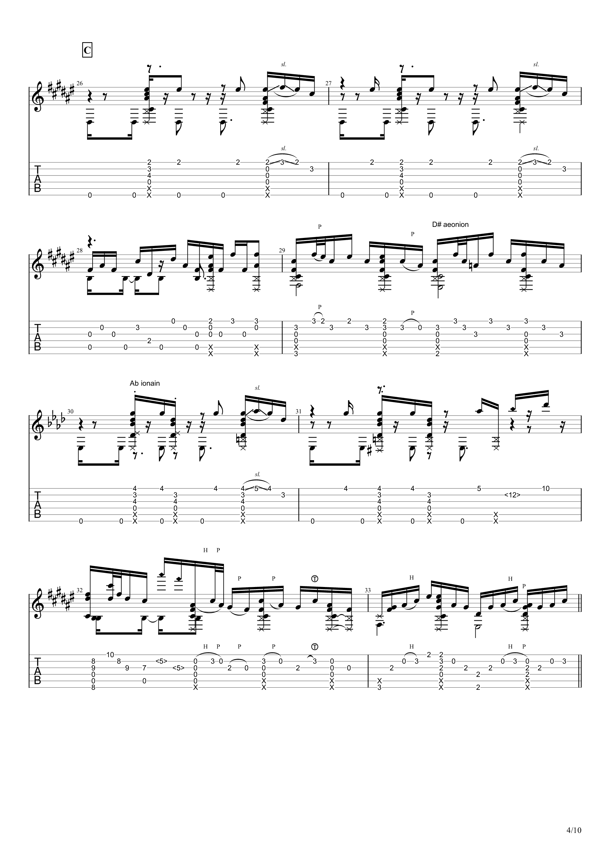 Guitar sound(指弹)吉他谱4