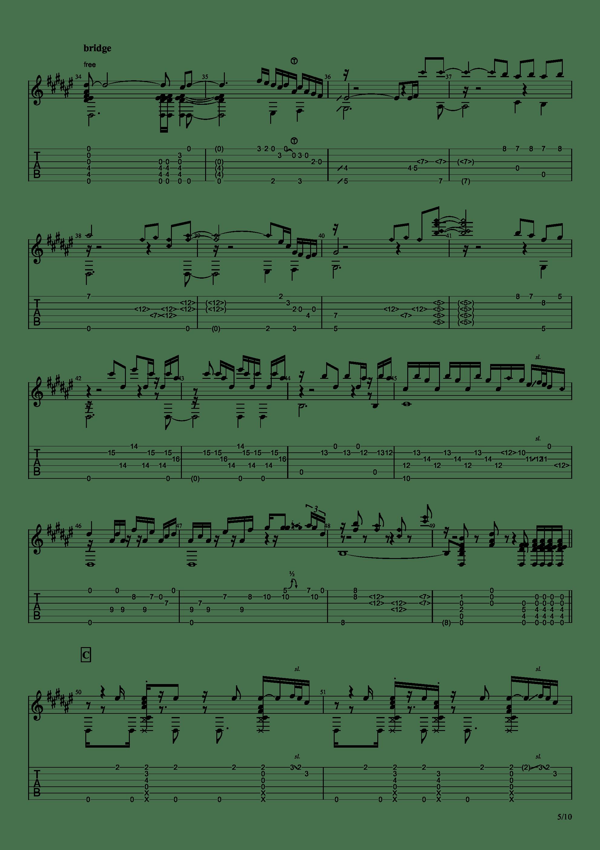 Guitar sound(指弹)吉他谱5