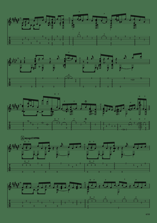 Guitar sound(指弹)吉他谱6