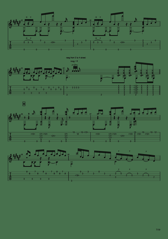 Guitar sound(指弹)吉他谱7