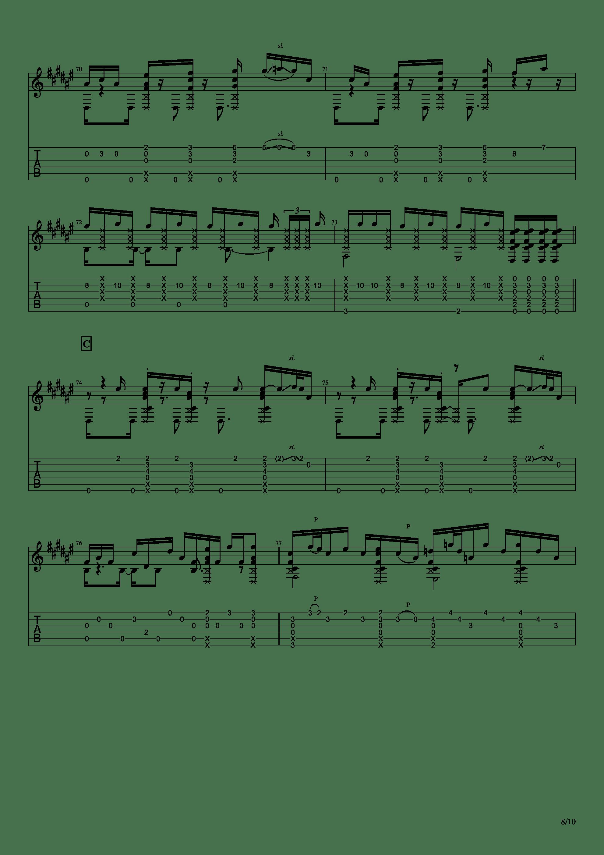Guitar sound(指弹)吉他谱8