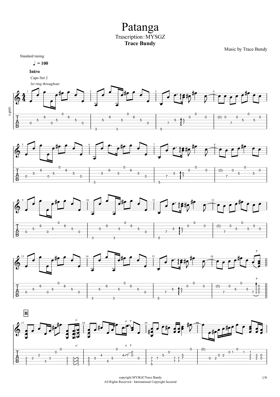 Patanga吉他谱1