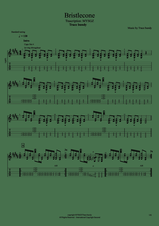 Bristlecone吉他谱1